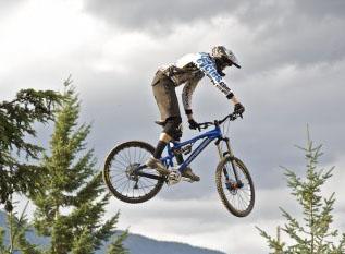 A biker at the Kamonee Cruxkow festival