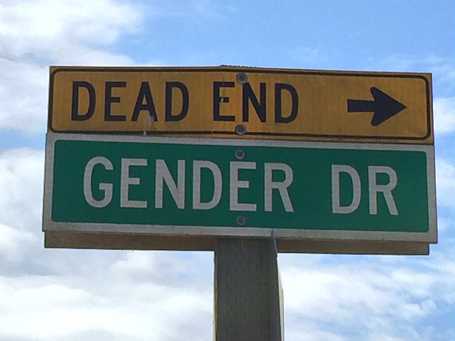 gender, street sign, dead end, women's rights, humor, politics,