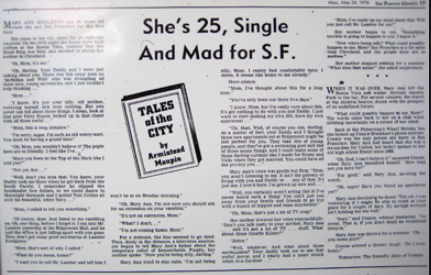 Armistead Maupin, Tales of the City, Newspaper, review, netflix,
